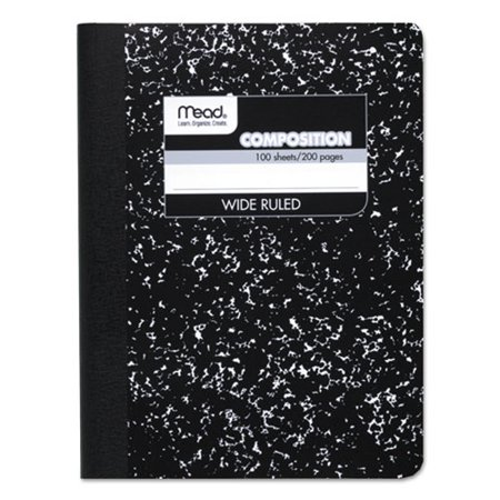 Mead Composition Book, Wide Ruled, 100 Sheets, 9 3/4