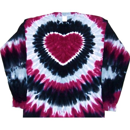 Tie Dyed Shop Prairie Wine Heart Tie Dye T Shirt Short Sleeve Small