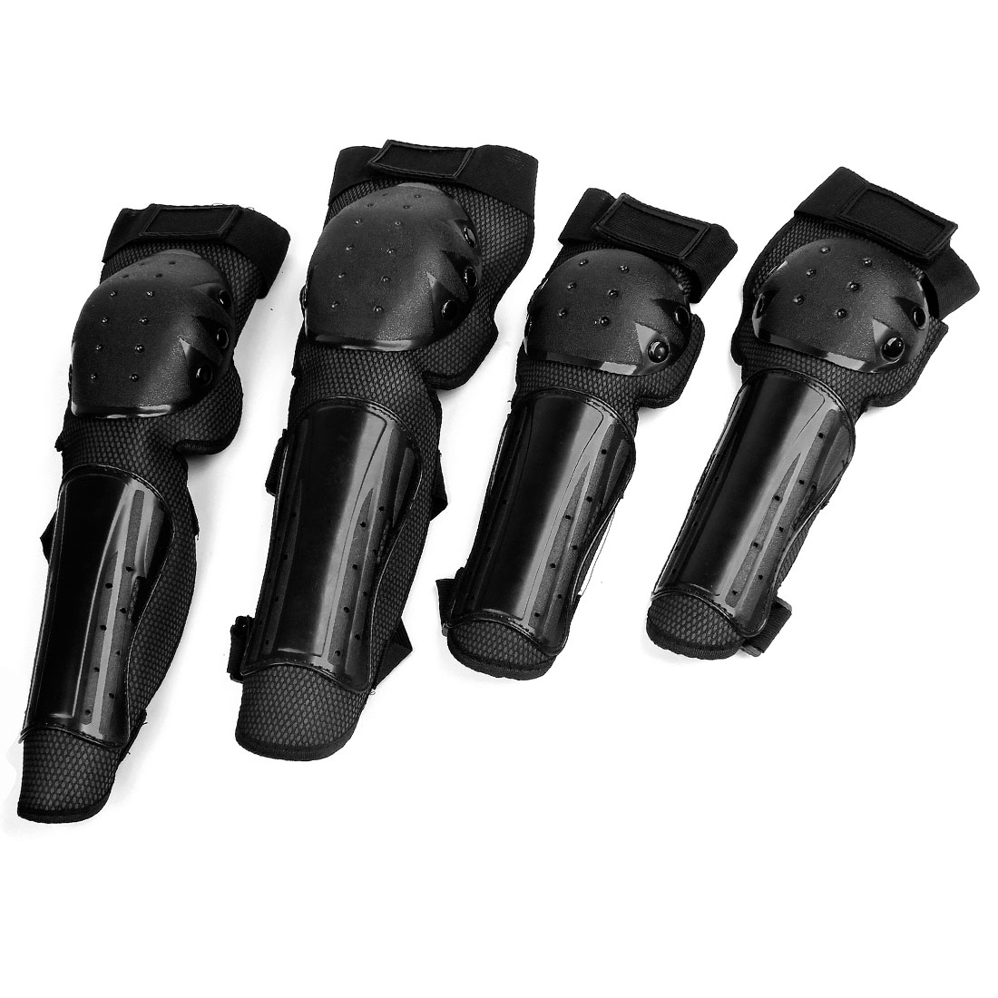 Unique Bargains Adult Adjustable Motorcycle Knee Protective Guard Armor Knee Pads