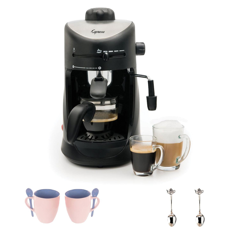 Capresso 30301 4-cup Espresso and Cappuccino Machine + Espresso Machine Accessory Kit by Capresso