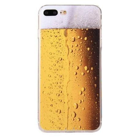 e9e2a3ae00 Made for Apple iPhone 8 Plus / 7 Plus / 6S Plus / 6 Plus TPU Case, [Beer  Glass] Slim & Flexible Anti-shock Crystal Silicone Protective TPU Gel Skin  Case ...
