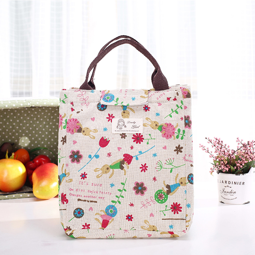 Portable Insulated Thermal Cooler Lunch Box Carry Tote Storage Bag Case Picnic B