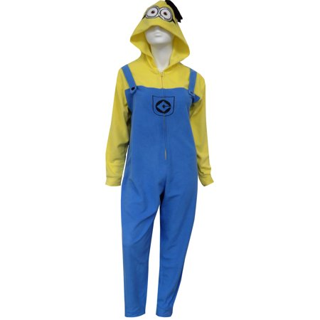 Despicable Me Minion in Overalls Hooded One Piece Pajama](Despicable Me Female Minion)