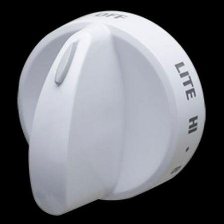 - 316442512 for Frigidaire Gas Range Burner Valve Knob White PS2332410 AP4327159