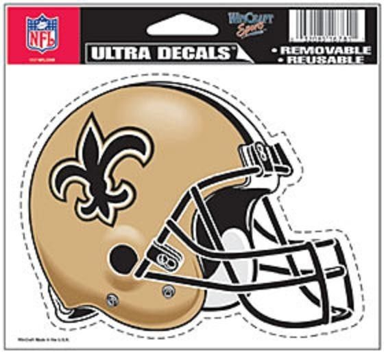"NFL CHOOSE YOUR TEAM HELMET ULTRA DECAL 5""X6"" CLEAR WINDOW FILM STATIC CLING"