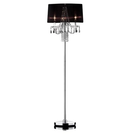 Ok Lighting Crystal Drop Floor Lamp  59 75   Chrome