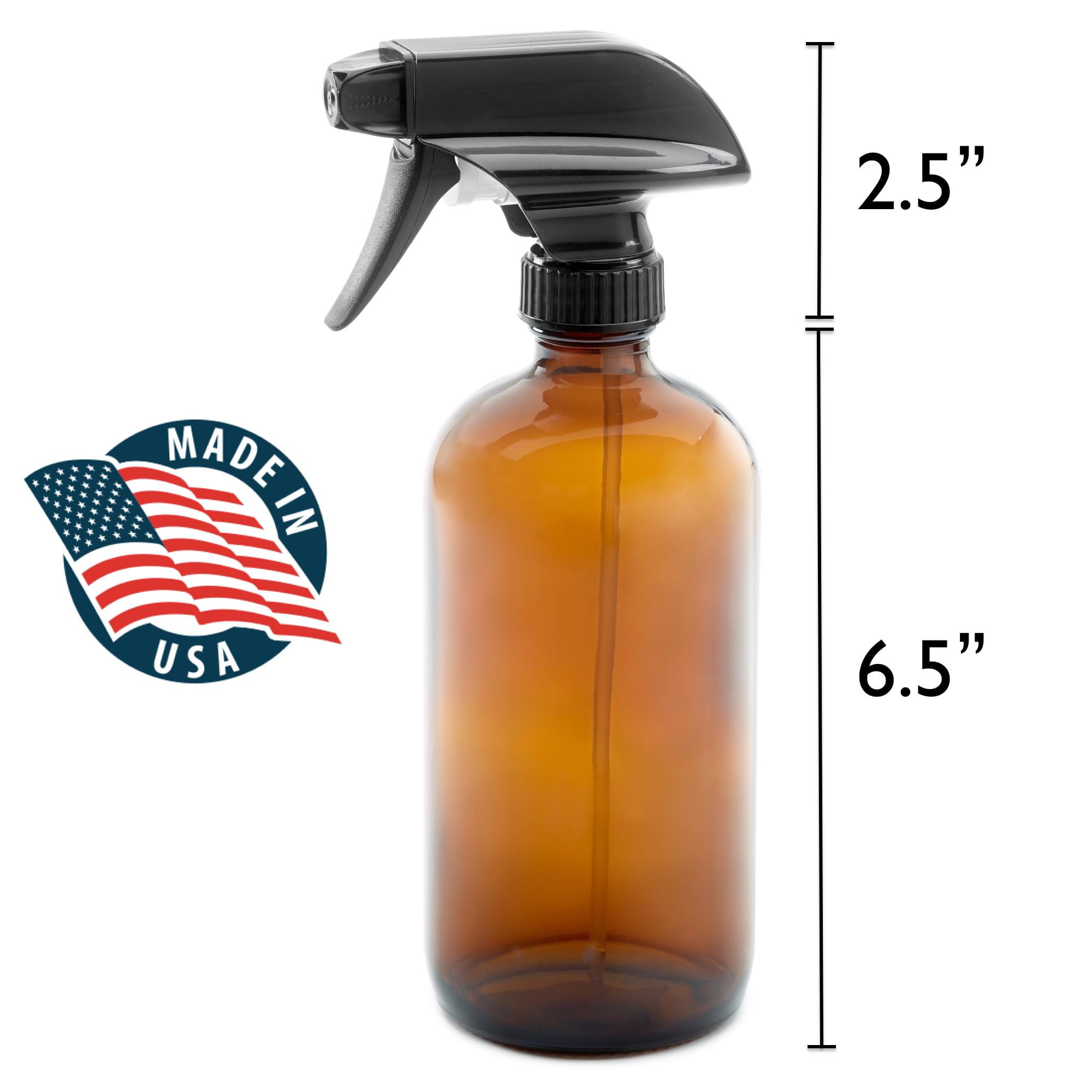 722b237c5e07 2 Pack 16oz Empty Amber Dark Brown Glass Spray Bottles w/ Labels and Caps -  Mist & Stream Trigger Sprayer - BPA Free - Lead Free- Boston Round Heavy ...