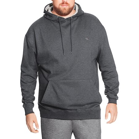 b32227bb champion men's big and tall fleece pullover hoodie (charcoal grey, xlt)