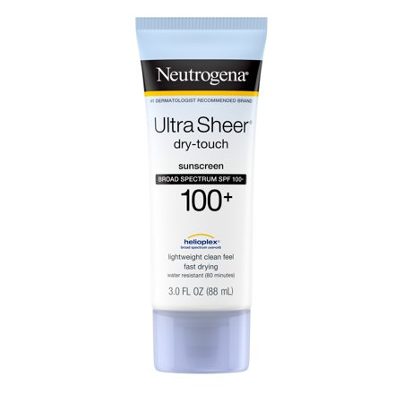 Neutrogena Ultra Sheer Dry-Touch Water Resistant Sunscreen SPF 100+, 3 fl.