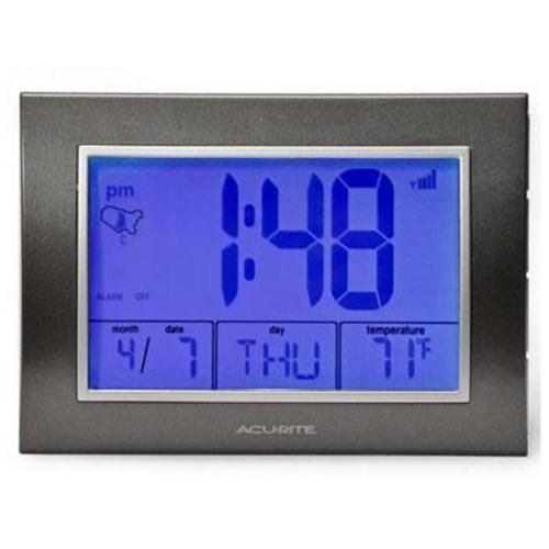 Acurite Atomic Alarm Clock With Time   Date   Temperature 13131 Digital Atomic (75065a2) by Chaney Instruments