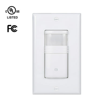 White Motion Sensor Light Switch Neutral Wire Required Vacancy & Occupancy Modes (Neutral Dimmer)