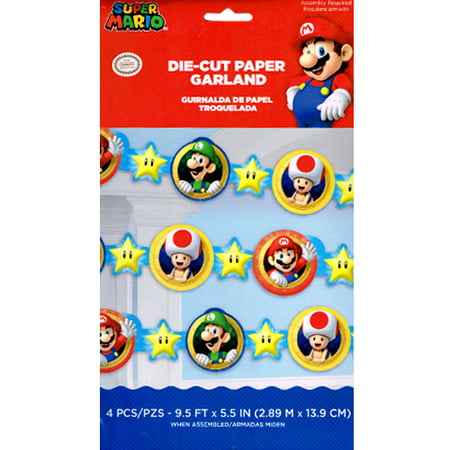 Super Mario Paper Garland (1ct)