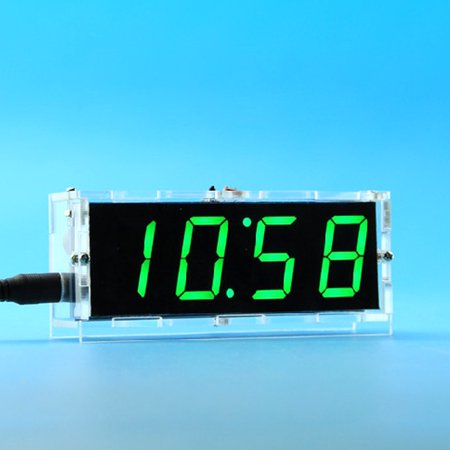 51 Single-chip Microcomputer Light-control LED Digital Display Electronic Clock Making Kit DIY Manufacturing Accessories Parts