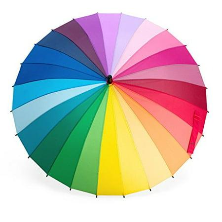 n/a Rainbow - Color Wheel Umbrella](Novelty Umbrella)
