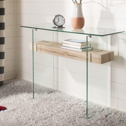 Highland Dunes Hinnant Rectangular Modern Glass Console Table
