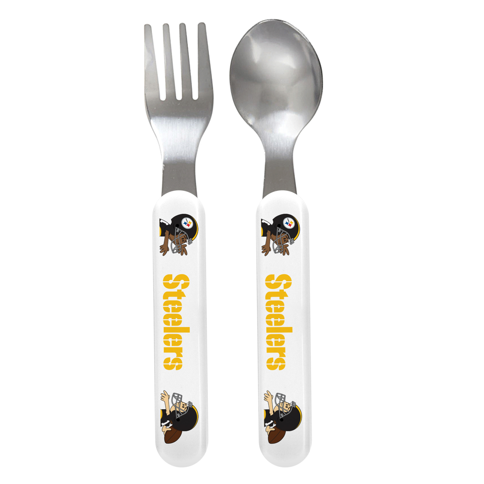 NFL Pittsburgh Steelers Baby Fork & Spoon Set by Baby Fanatic