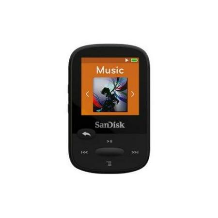 "SanDisk Clip Sport SDMX24-008G 8 GB Flash MP3 Player Black FM Tuner 1.4"" microSDHC MP3, AAC, Audible,... by"