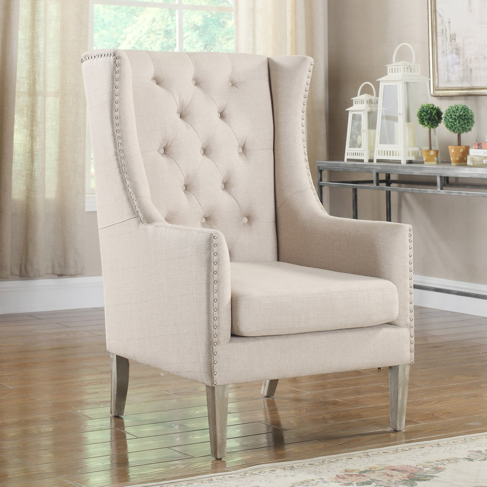 Best Master Furniture Jescee Executive Style Wingback Chair