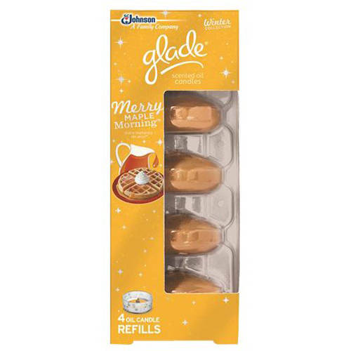 Glade Gld Scented Oil 4ct Rf Merry Maple 2oz