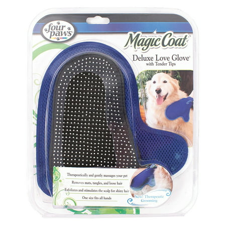 Four Paws Magic Coat Tender Tip Deluxe Love Glove for Dogs - Paw Cleaning Glove