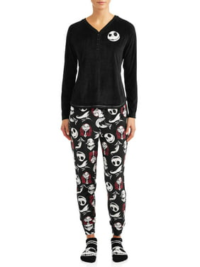 Disney Women's and Women's Plus Giftable Nightmare Before Christmas 3 Piece Pajama Set