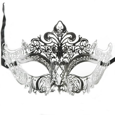 Halloween Mask Movie Quality (Kbw Global Corp M7110CK Venetian Metal and Rhinestone)