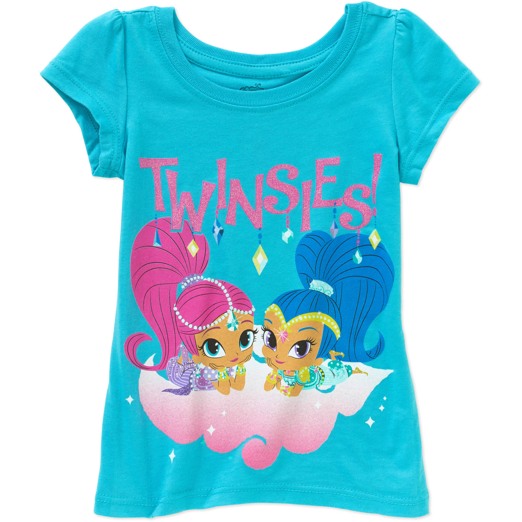 "Nickelodeon Shimmer & Shine ""Twinsies"" Toddler Girls Short Sleeve Graphic Tee"
