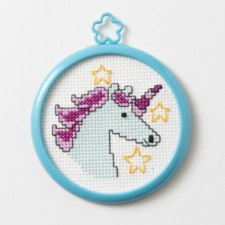Bucilla My 1st Stitch Mini Mystical Unicorn Counted Cross Stitch Kit, 1 Each