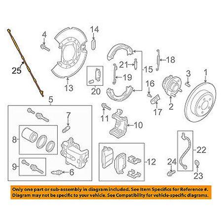 CHRYSLER OEM ABS Anti-lock Brakes-Rear Speed Sensor Left (Sensory Lock)