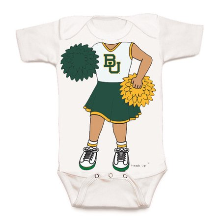 Baylor Bear Heads Up! Cheerleader Baby (Cheerleader Onesie)
