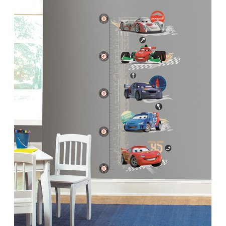 Disney Cars 2 Wall Decal Growth Chart 28 x52