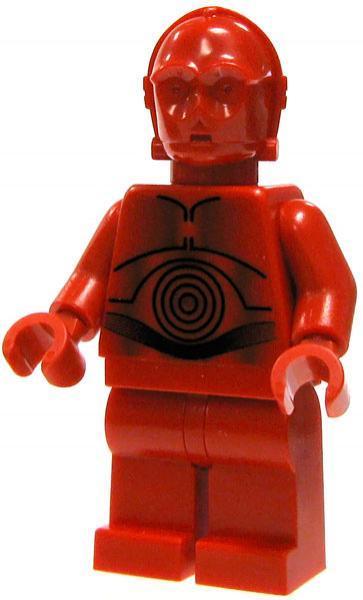 R-3PO Minifigure Star Wars Building Blocks Custom Red C-3PO