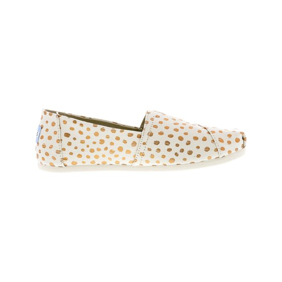 ac493bdac50 Toms - Toms Women s Classic Canvas Natural   Rose Gold Dots Ankle ...