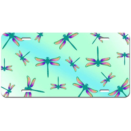Dragonflies a Buzz Novelty Metal Vanity License Tag Plate