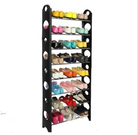 ktaxon new 10 tier 30 pair shoe rack closet organizer holder free standing space saving. Black Bedroom Furniture Sets. Home Design Ideas