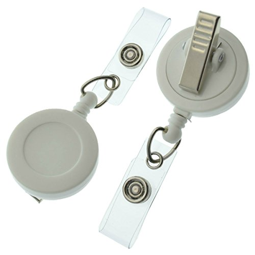 Click here to buy 15 Pack of Premium Retractable ID Badge Reels with Alligator Clip in Solid Colors (Assorted Colors).