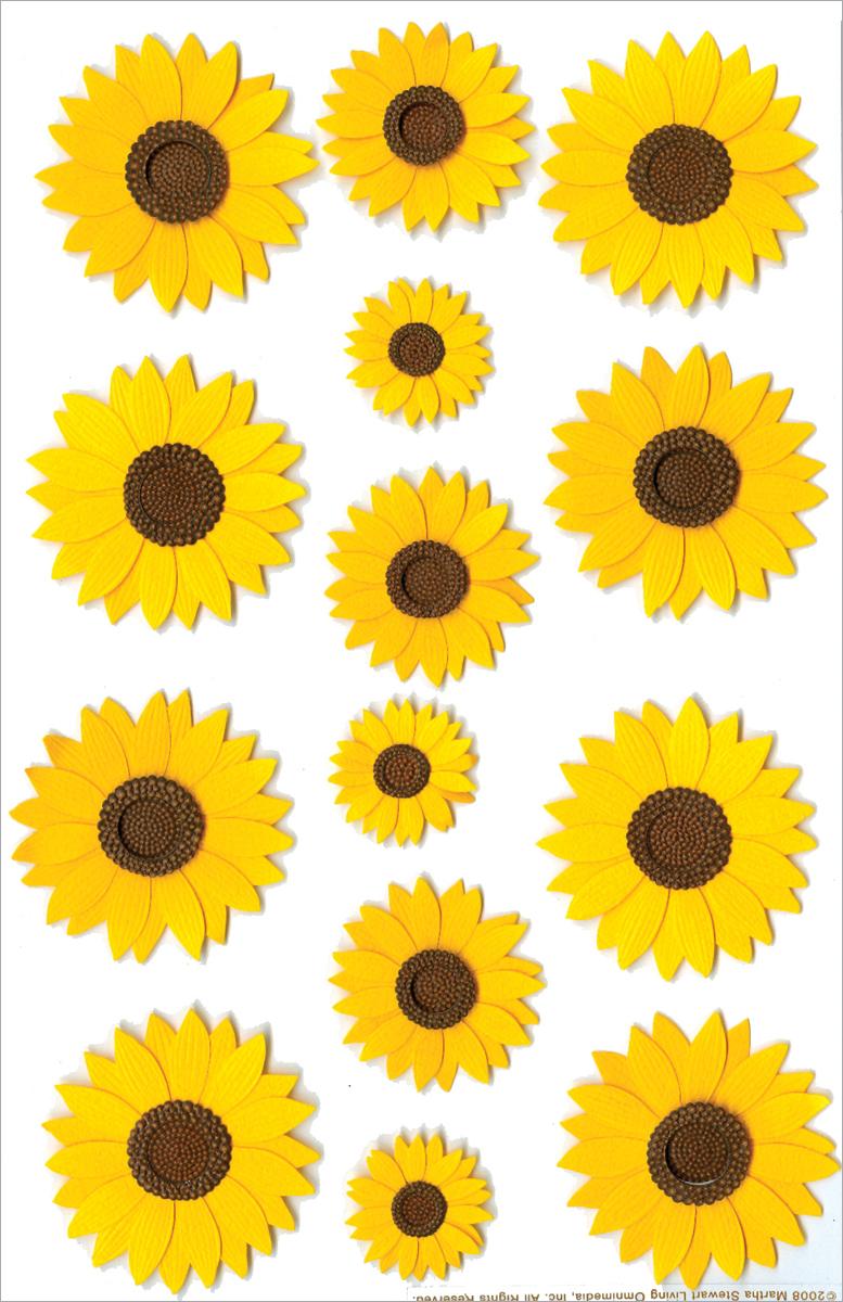 Martha Stewart Stickers-Sunflowers - Walmart.com