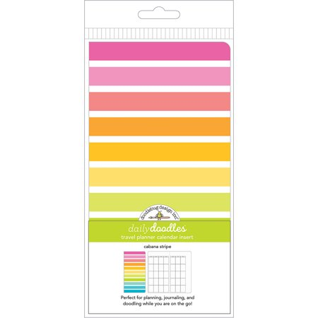Doodlebug Planner Inserts-Cabana Stripes Daily Doodles (Daily Doodle)