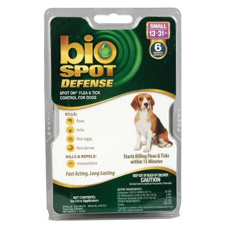 - bio Spot Defense -  Small - 13 to 31 lbs. -                 6 Month