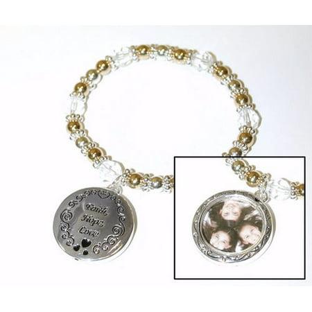 Bracelet Faith Hope Love Picture Frame Charm Mixed Metal Walmart
