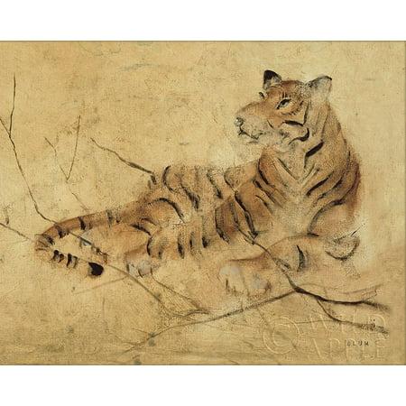 Global Tiger Light Crop Poster Print by Cheri Blum (Tigger Light)