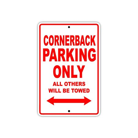 Cornerback Football Player Parking Only Gift Decor Novelty Garage Aluminum 8
