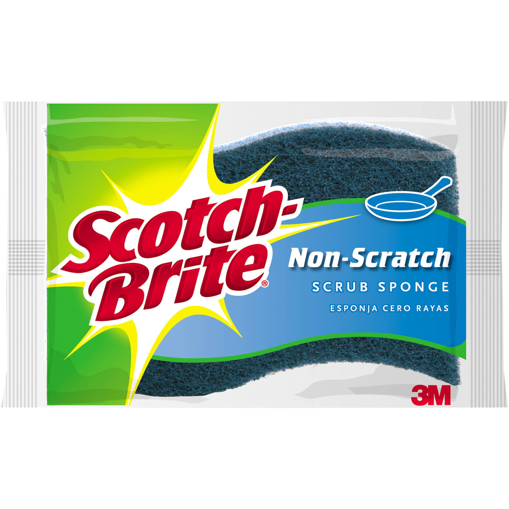 Scotch-Brite No Scratch Multi-Purpose Scrub Sponges, 9 pack