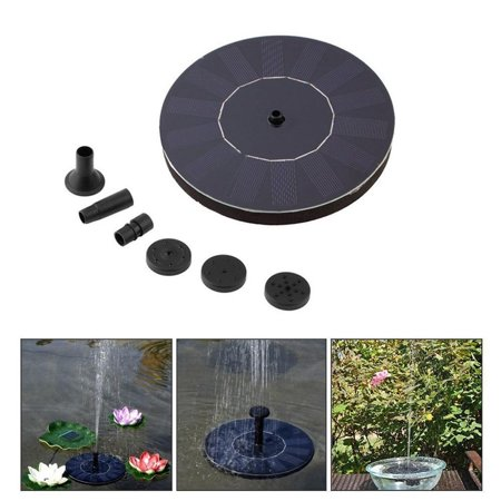 Solar Powered Water Pump Pool Pump Garden Fountain Floating Panel Watering  Pond Kit Solar Water Pump for Waterfalls Water Display