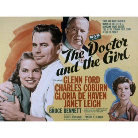 Janet Leigh Halloween (The Doctor And The Girl Janet Leigh Glenn Ford Charles Coburn Gloria Dehaven 1949 Movie Poster)