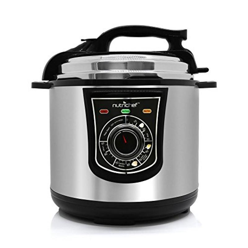 NutriChef Electric Pressure Cooker & Steamer | Rice Cooker | Slow Cooker , Stainless Steel Adjustable