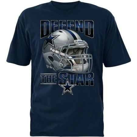Dallas Cowboys Youth Fierce Helmet Navy T-Shirt