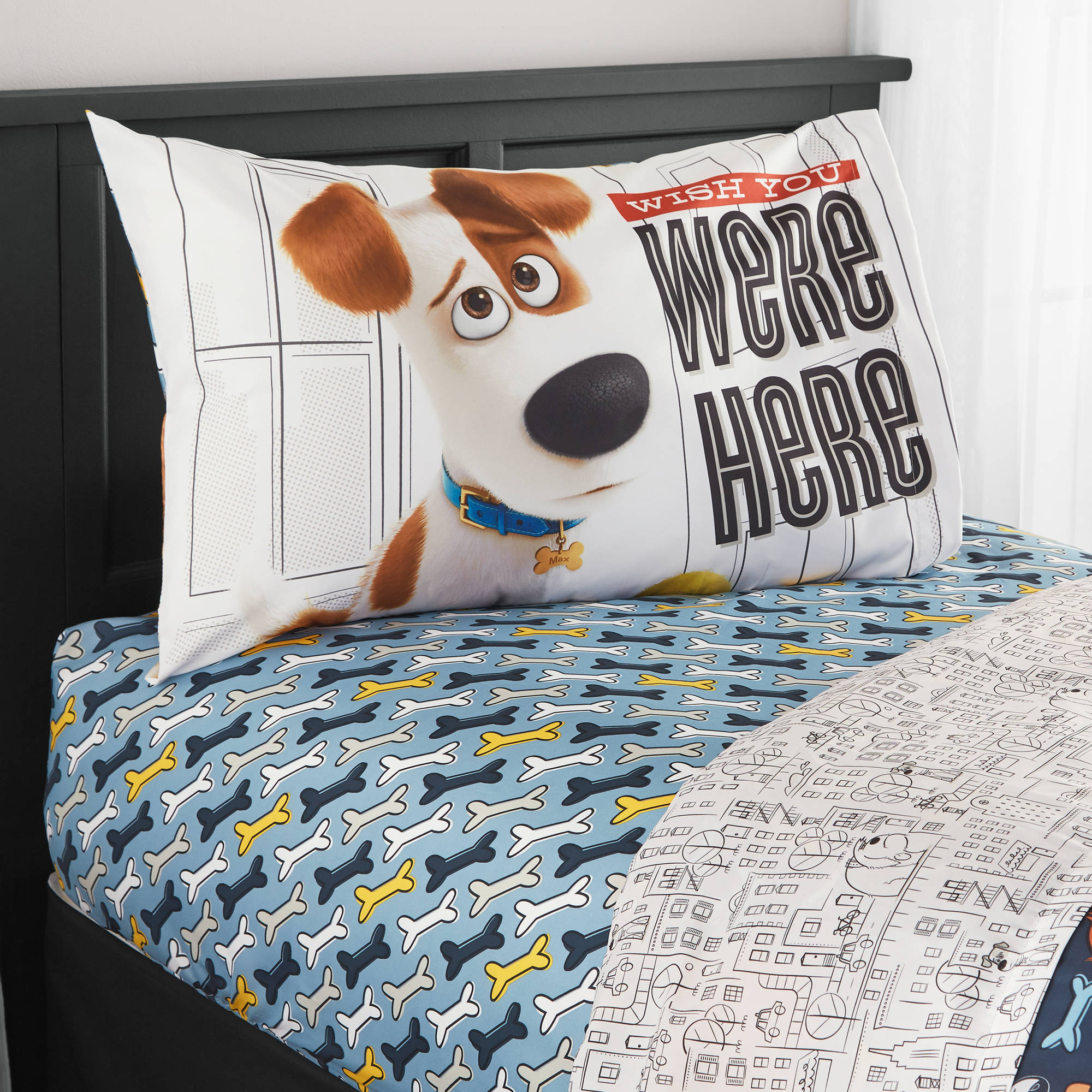 Secret Life Of Pets 'Wish You Were Here' Twin Bedding Sheet Set
