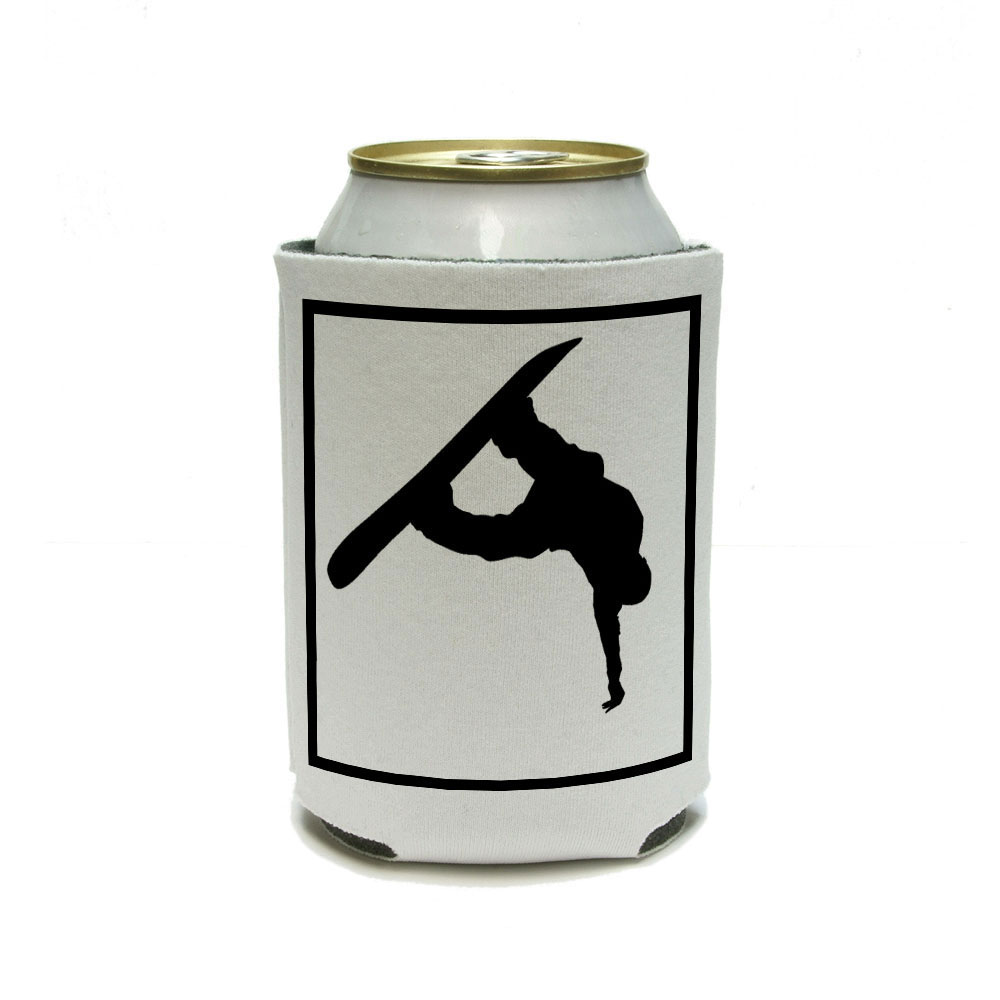 Snowboarding Snowboarder Can Cooler Drink Insulator Beverage Insulated Holder by Graphics and More