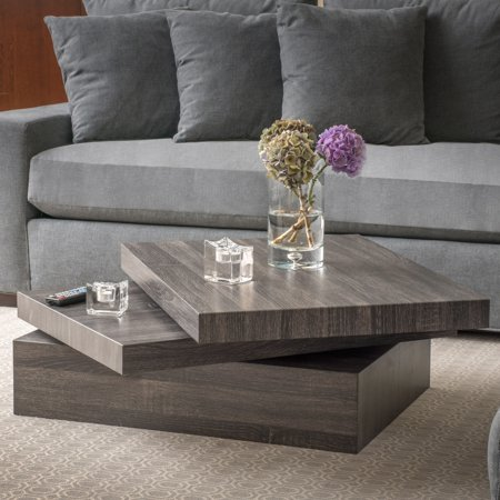 Noble House Jetson Modern Rotating Coffee Table
